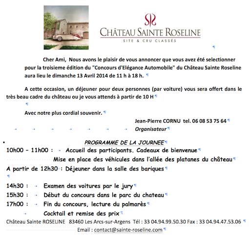 Concours d'élégance au Château Ste Roseline 83460 Captur80