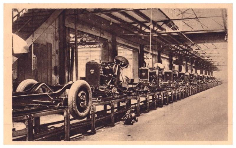 Cartes postales sur la fabrication des 201 Chaine10