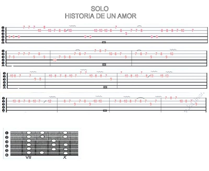partition guitare historia de un amor