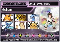 La team pokemon de votre personnage. Gohan210