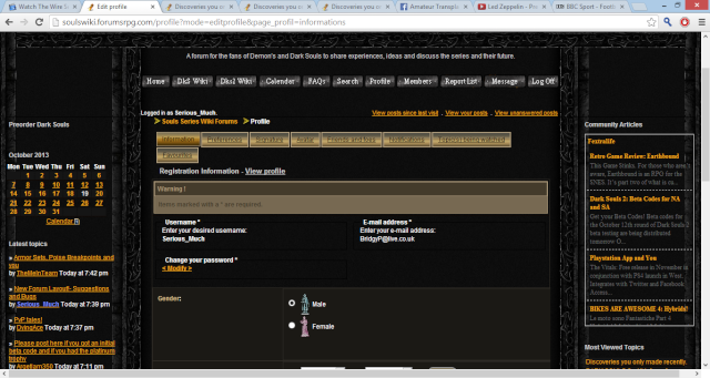 New Forum Layout!- Suggestions and Bugs Profil10