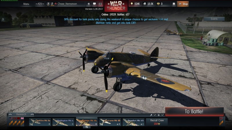 My war thunder hanger(Great Britain) Shot_215