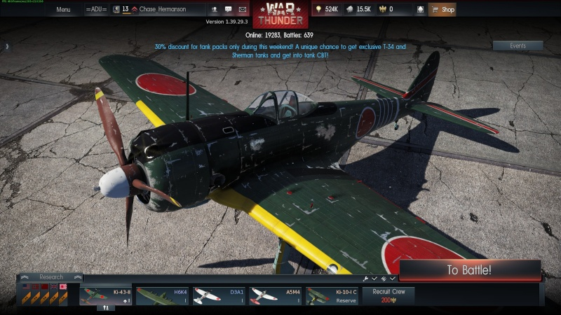 My war thunder hanger(Japan) Shot_216