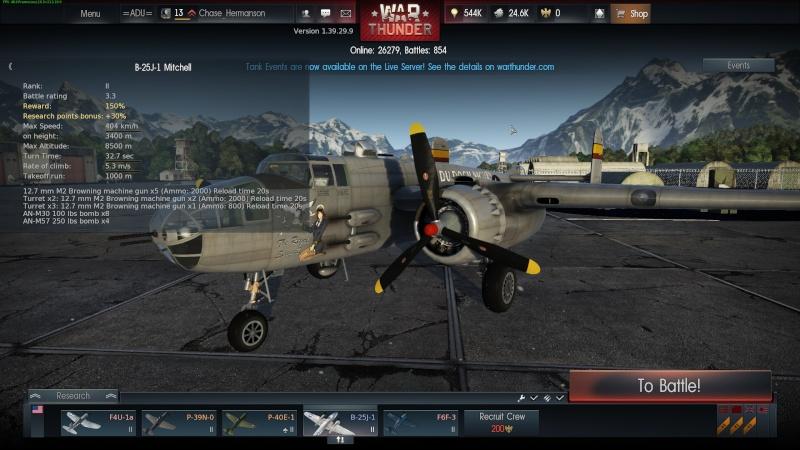 My war thunder hanger(USA) Shot_219