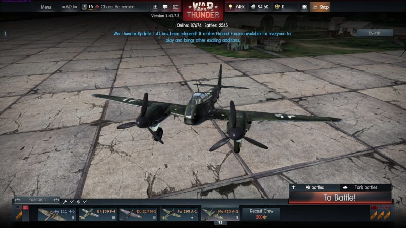 My war thunder hanger(Germany) Shot_243