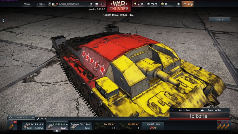 My war thunder hanger(Germany) Shot_249