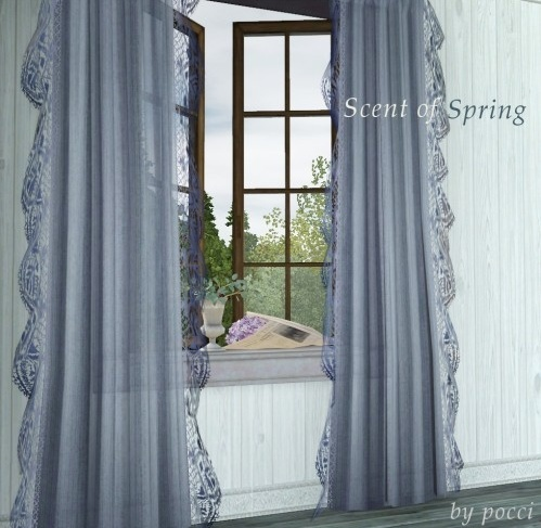 Scent of Spring – windows & curtain mini set by Pocci Screen17