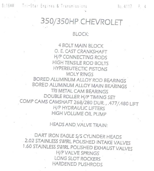 Advice on selling my engine/trany 350_en10