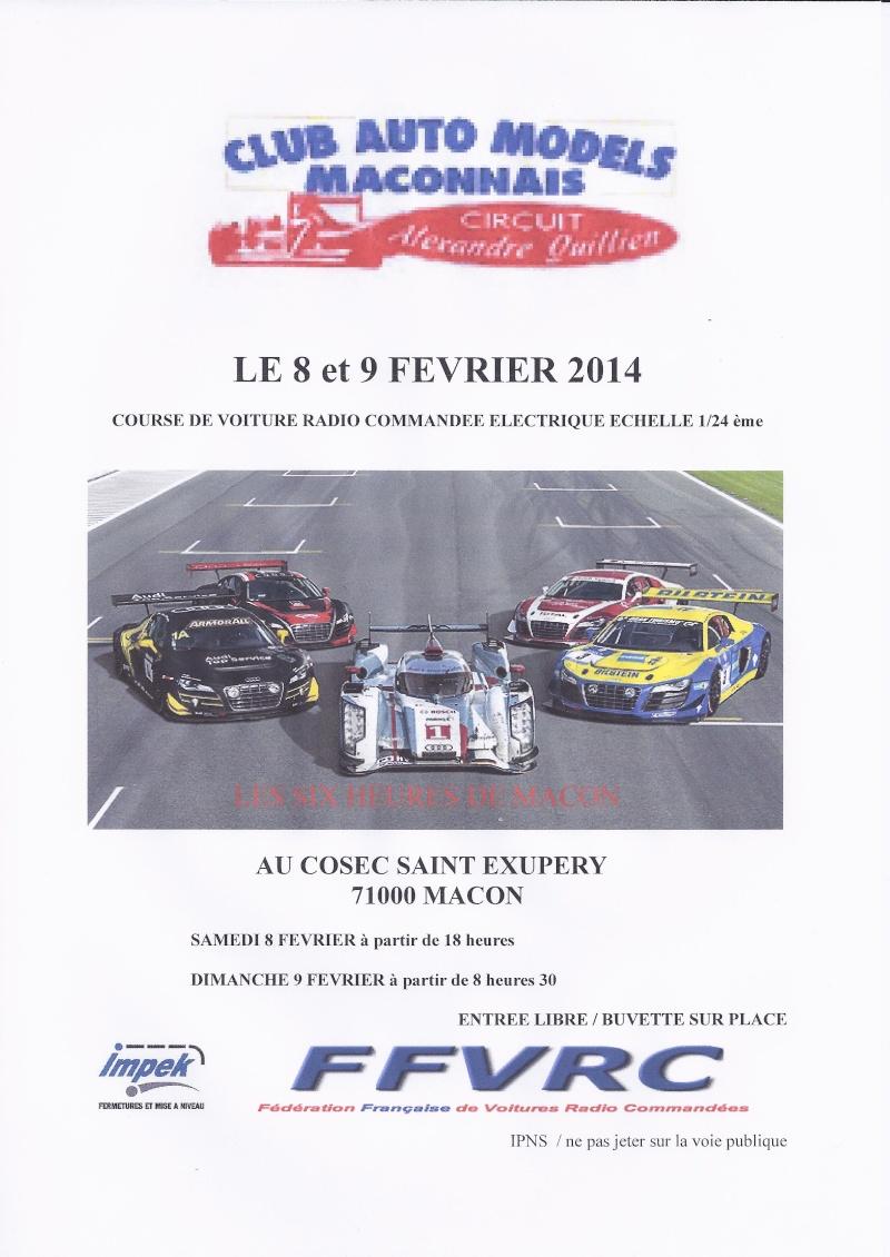 """endurance """"les 6h de Macon"""" 09/02/2014 Affich11"""