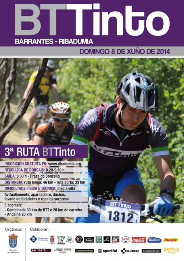 <Marcha> III Ruta BTTinto de Barrantes (08/06/´14 Ribadumia) Cartel15