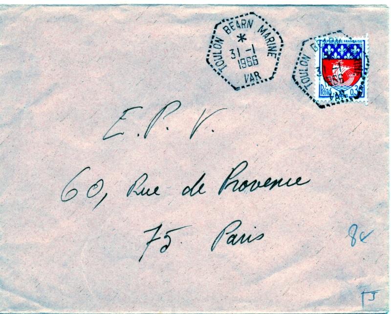* TOULON BEARN MARINE, Bureau Postal Naval * Img51610