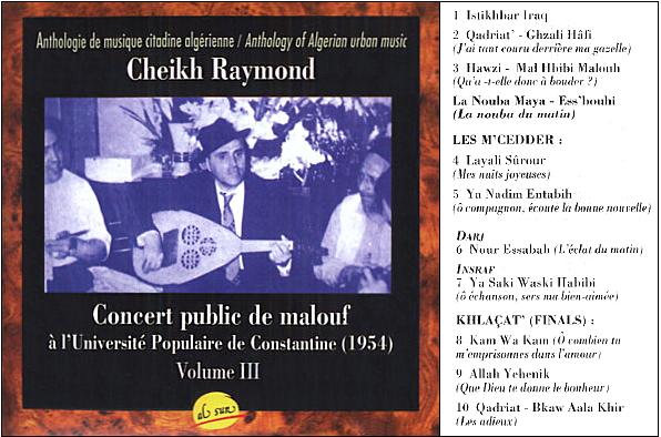 Musiques traditionnelles : Playlist Crasv310