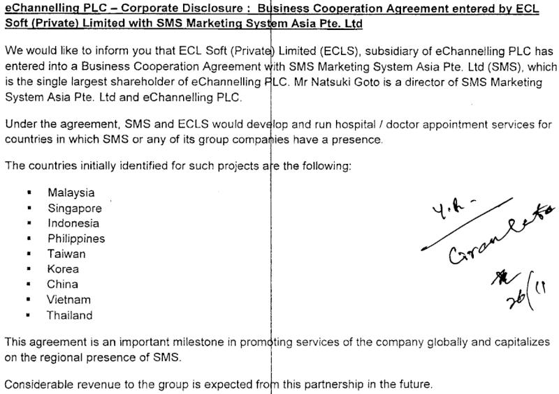 26-Nov-2013 E Channelling Corporate Disclosure  Echan10
