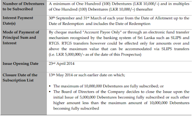 Hemas Holdings Debenture Issue at a glance Hhl211