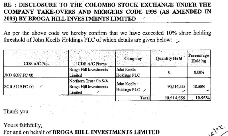 21-Oct-2013 Disclosure - Borga Hill Investments - Regarding JKH Jkh10