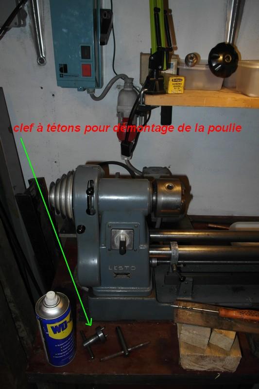 entretien d'un tour scintilla LESTO GD 118A (tour à bois et métaux) 01-les10
