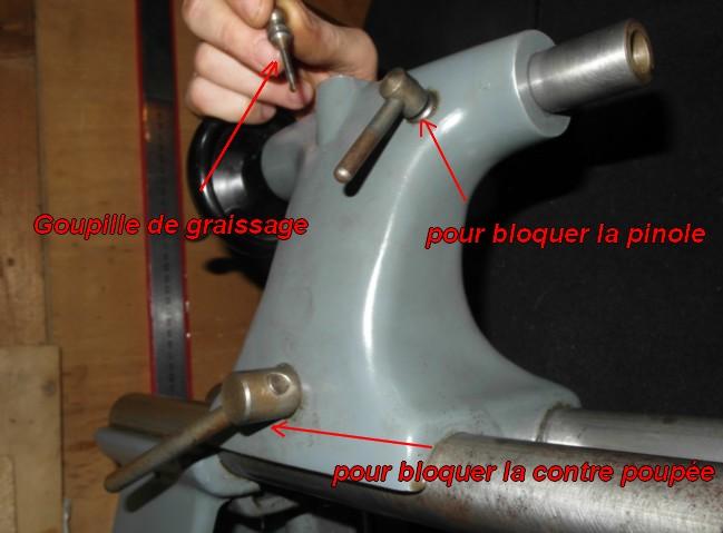 entretien d'un tour scintilla LESTO GD 118A (tour à bois et métaux) Poupee10