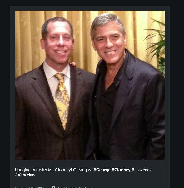 New Sighting - George Clooney Casamigos Function Las Vegas (the Venetian) April 9 2014 Casami11