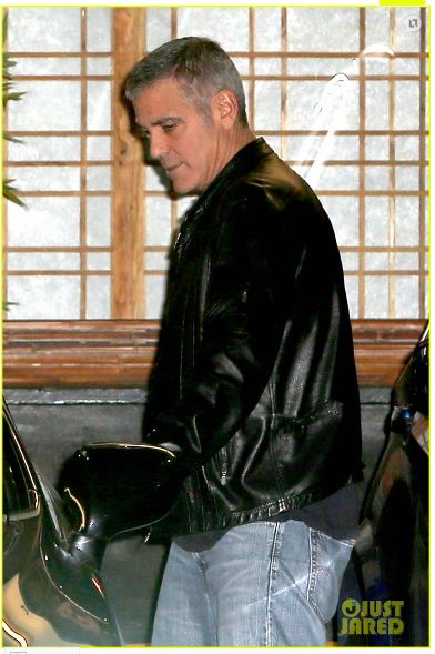 George Clooney out to dinner in Studio city  Cloone21
