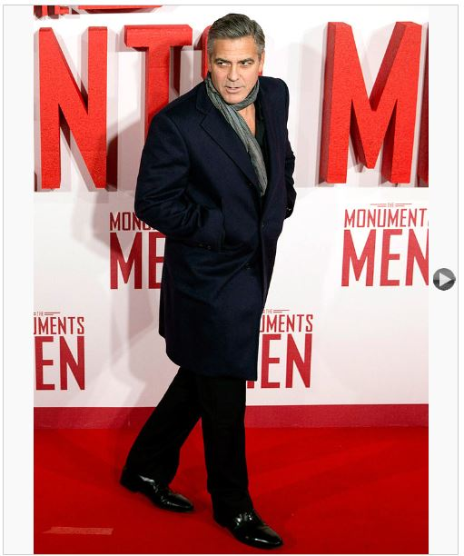 George Clooney at the UK Premiere of Monuments Men, red carpet Uk_pre10