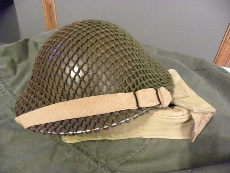 MKII helmet 1942 with net  Dscn8723