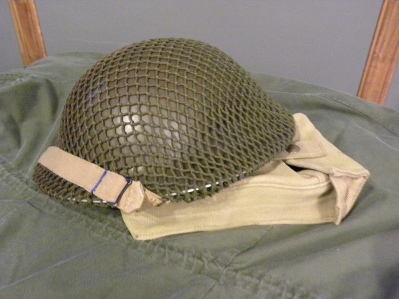 MKII helmet 1942 with net  Dscn8724