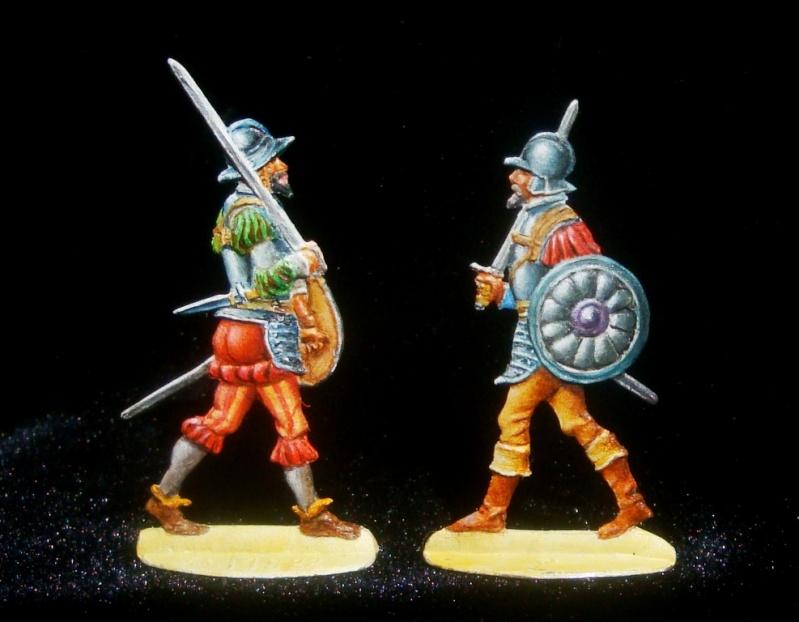 Conquistadors espagnols à pied du XVe siècle - 30mm Ms21-210