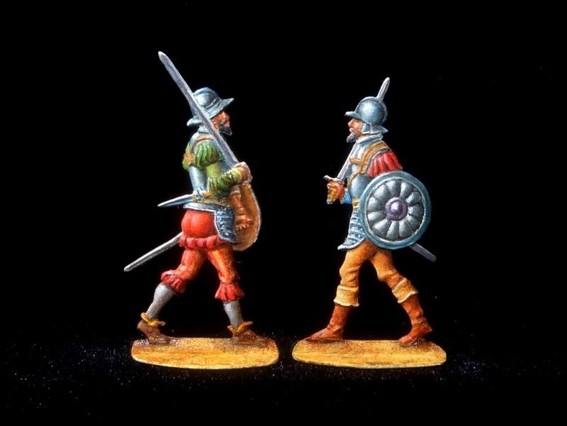 Conquistadors espagnols à pied du XVe siècle - 30mm Ms21-214