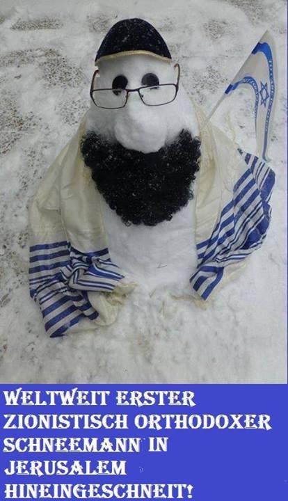 Ein Israelischer Schneemann! Schnee10