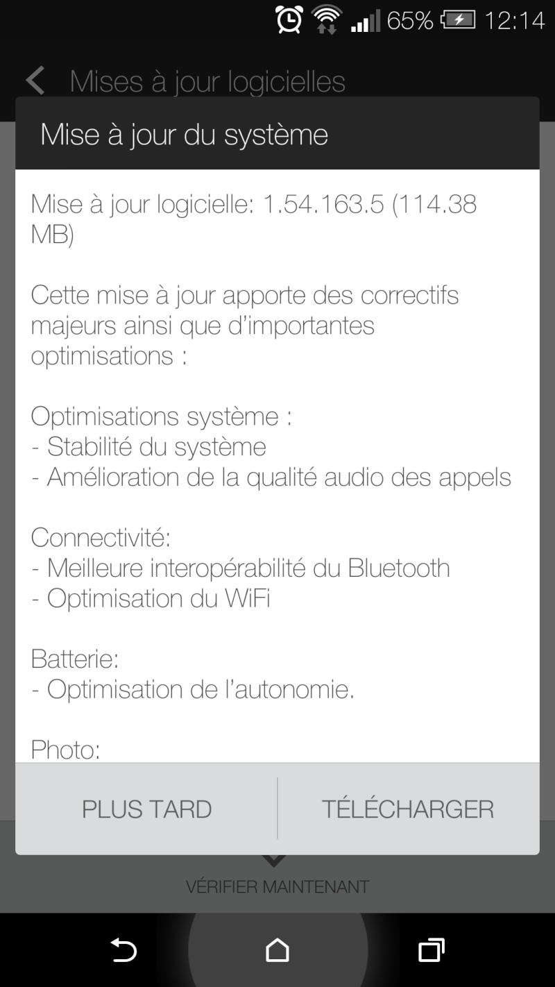 [DISCUSSION] Mise à jour du HTC One M8 Screen10