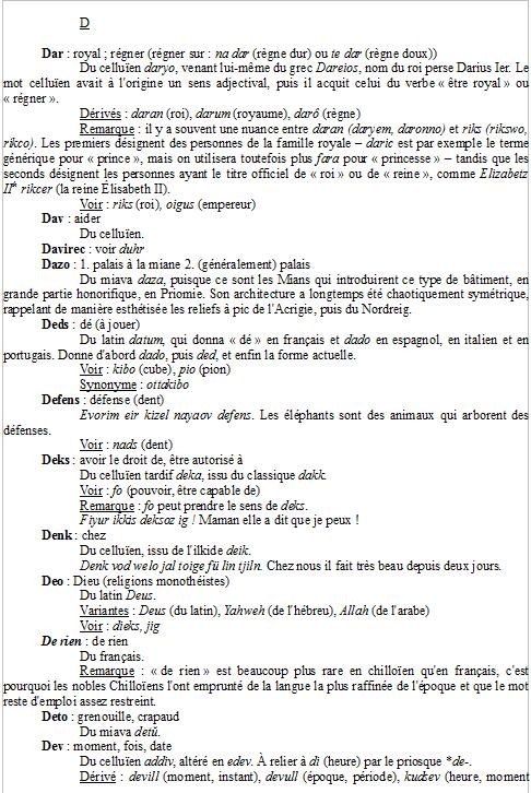 À quoi ressemblent vos dictionnaires ? Exempl11