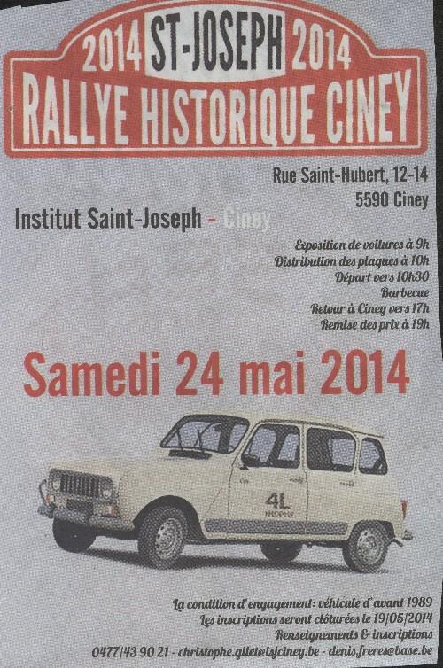 Rallye historique Ciney. Ciney110