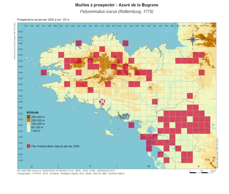 lacunes à combler dans l'atlas pour les papillons communs en mai Polyom10