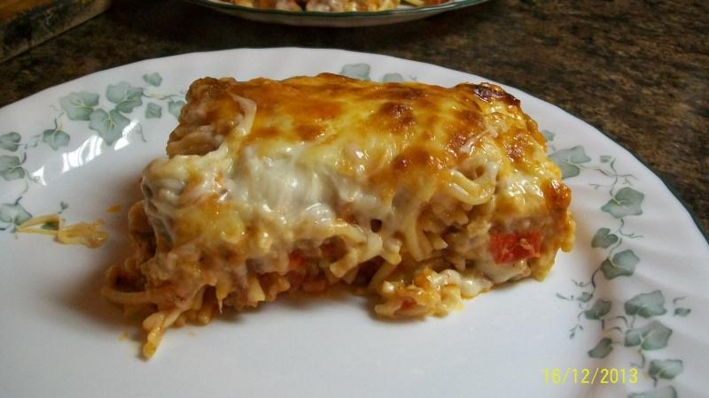 Gratin de spaghettis aux saucisses italiennes 100_5314