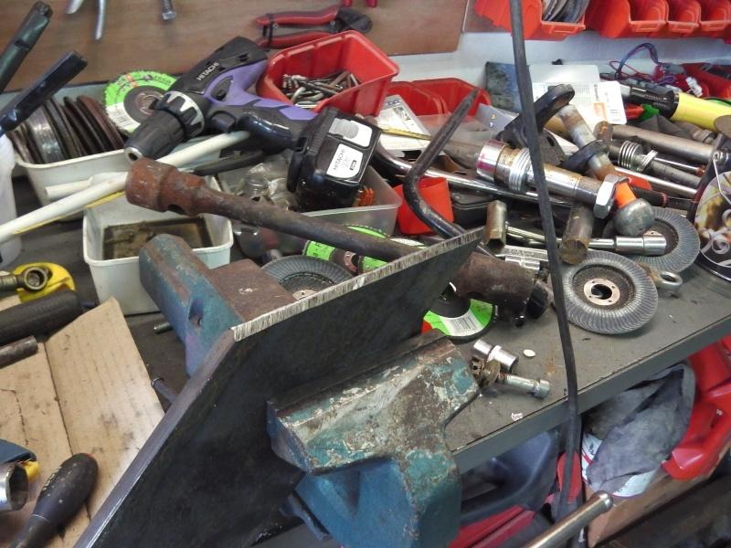 fabrication chandelles pour Unimog 00618