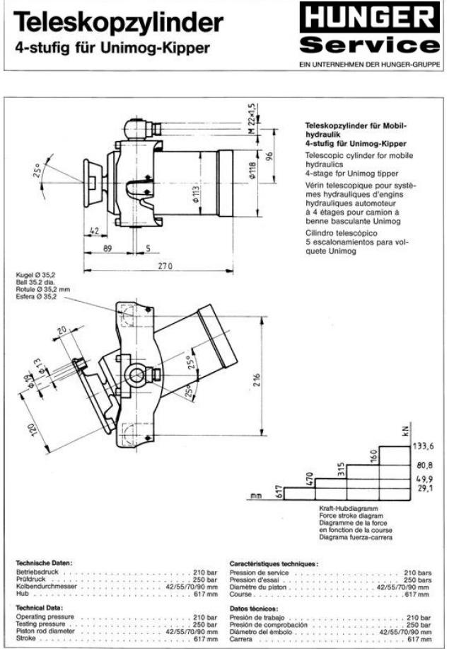caracteristques verins de benne unimog de 411 à 416 Ver110