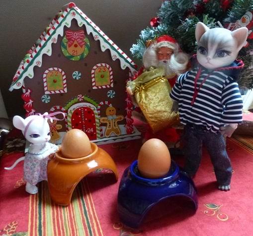 Au chat... et à la souris... Millie a reçu ses cadeaux de Noël... page 2. P1070427