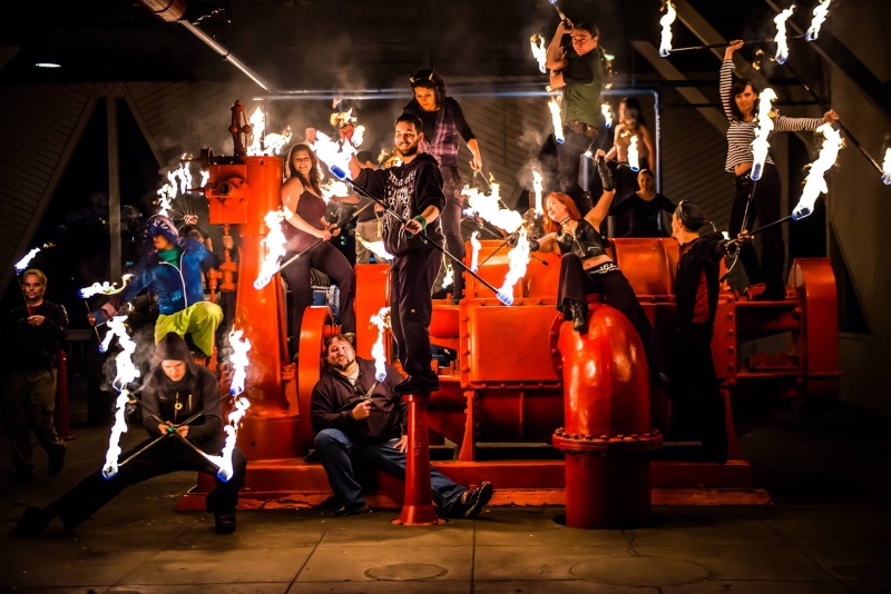 Fire Spinning in Seattle // Flow Arts Topic 14211510