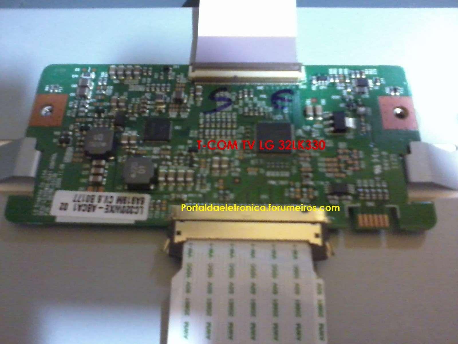 Televisor LG 32LK330 sem imagem. T-com-10