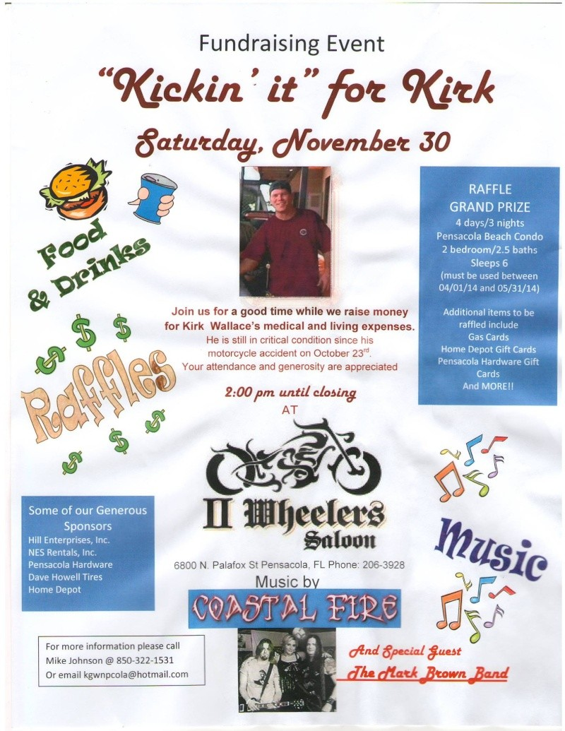 Fundraiser for motorcycle accident victim Fundra11