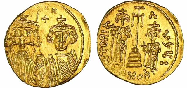 Solidus Byzantin de Constans II M19310