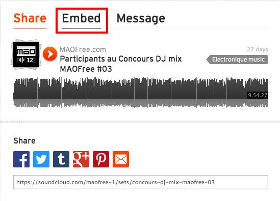 Insérer un Playeur Soundcloud, Mixcloud, une video Youtube ou une image sur le Forum 110