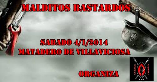 MALDITOS BASTARDOS SABADO 4/1/2014 MATADERO DE VILLAVICIOSA Cartel15