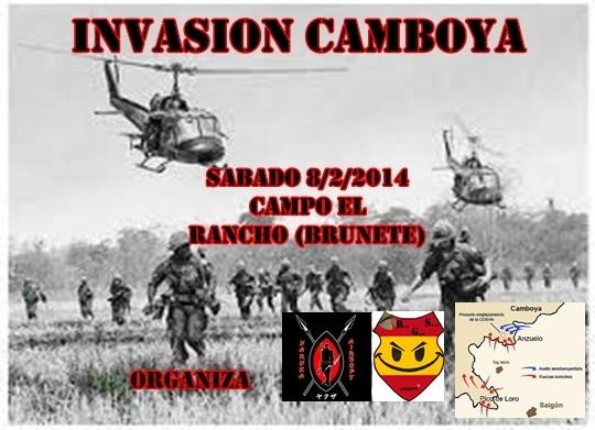 INVASION CAMBOYA SABADO 8/2/2014 CAMPO EL RANCHO (BRUNETE) Cartel24