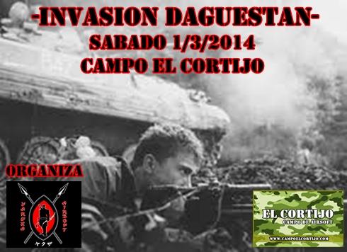 INVASION DAGUESTAN SABADO 1/3/2014 CAMPO EL CORTIJO Cartel26