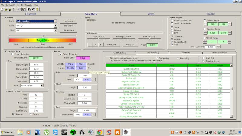 """OT2 """"pour les nuls"""", tutoriel du logiciel On Target 2 (SFA) - Page 2 Carbon10"""
