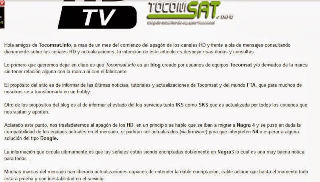 Comunicado oficial Team Tocomsat aos usuários da America Latina Tocoms10