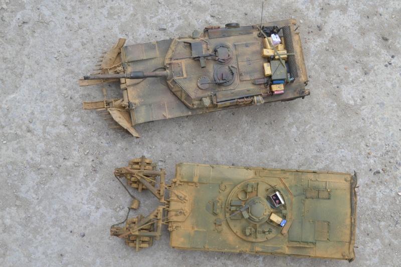 M1 mine rollers et M1 mine plows (dragon et trumpeter 1/35) Dsc_0067