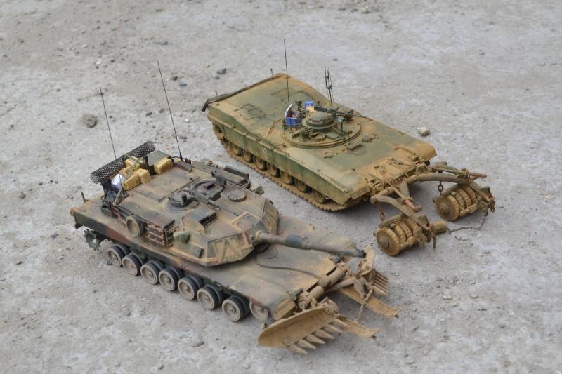 M1 mine rollers et M1 mine plows (dragon et trumpeter 1/35) Dsc_0068