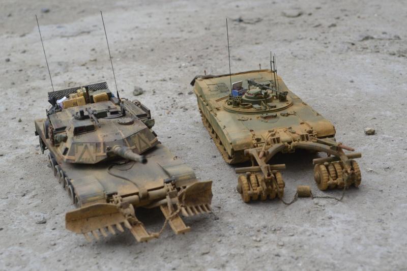 M1 mine rollers et M1 mine plows (dragon et trumpeter 1/35) Dsc_0070